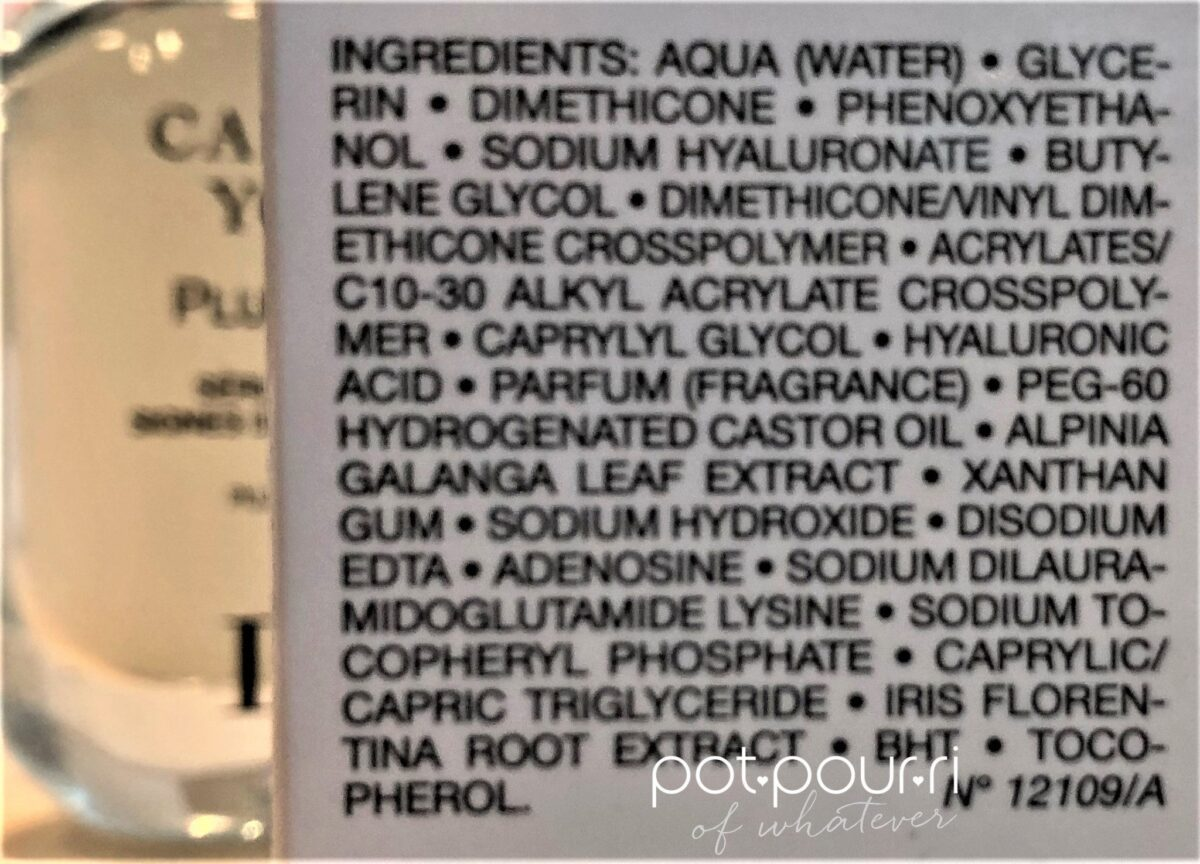 ingredients in Capture Youth Plump Filler Serum