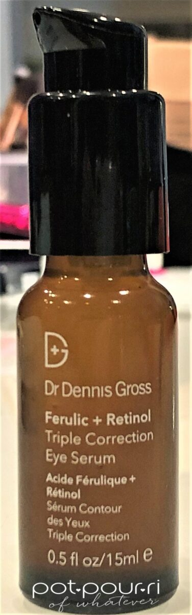 DR DENNIS GROSS GERULIC ACID RETINAL EYE SERUM AMBER BOTTLE