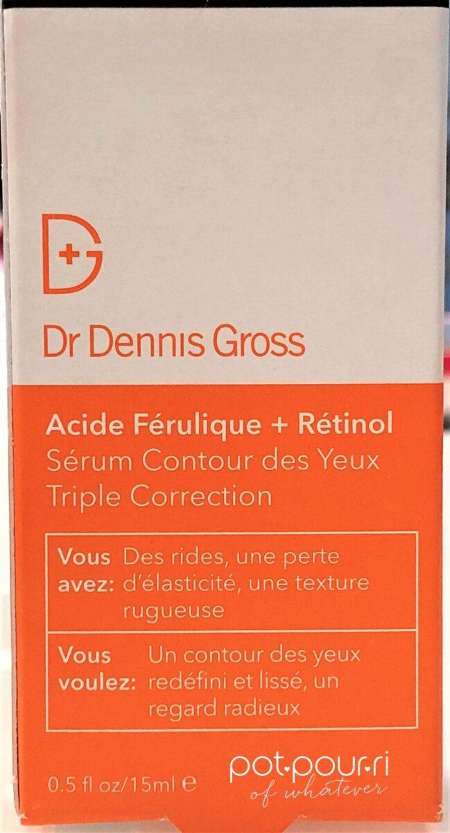 PACKAGING FOR DR DENNIS GROSS FERULIC ACID RETINOL EYE SERUM