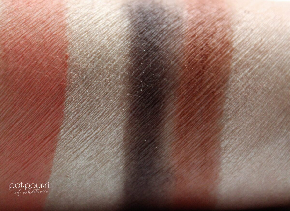 Dior Inflame 5 Couleur Palette swatched