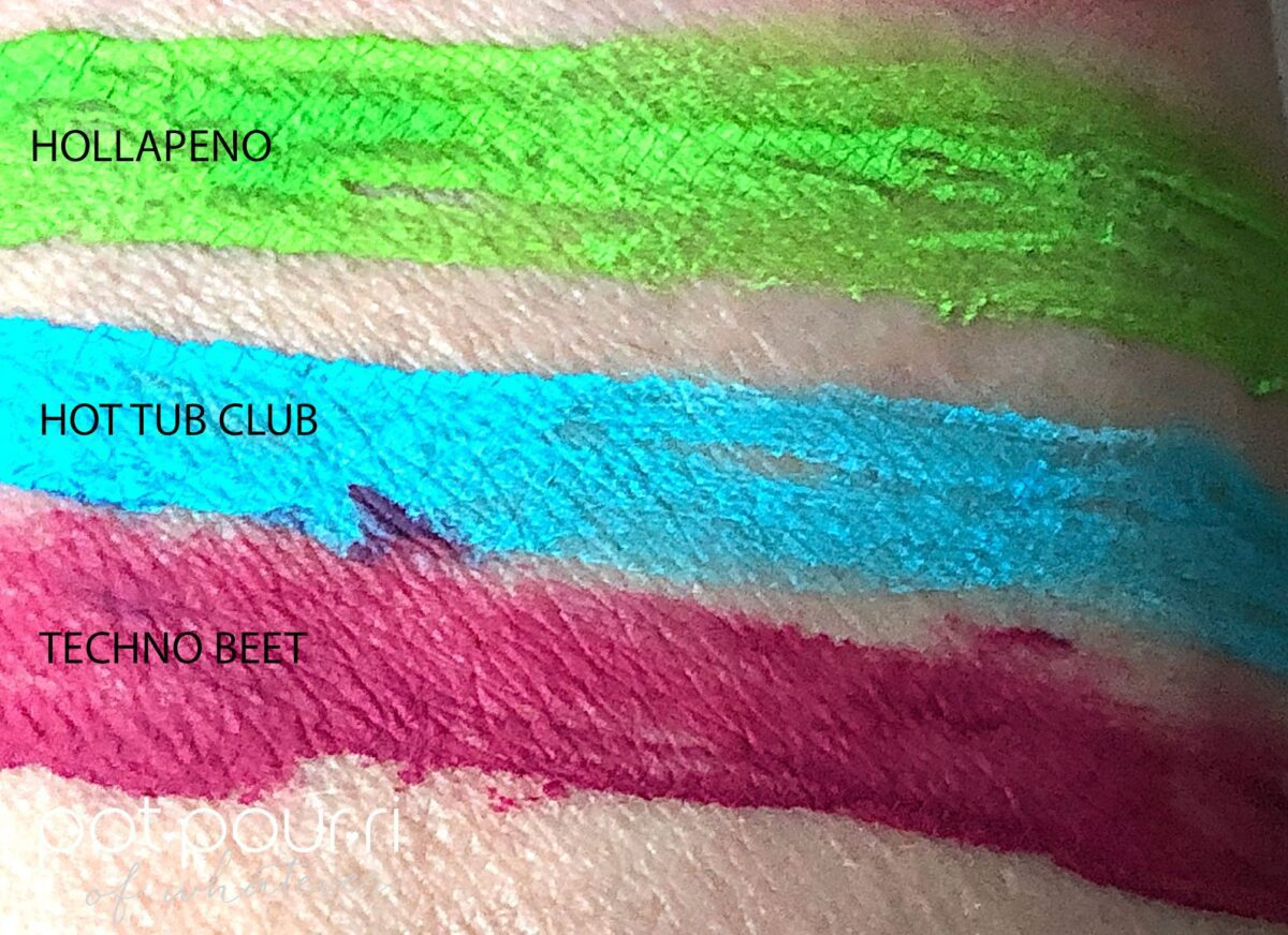 SWATCHES FOR BAEWATCH TRIO LIQUID EYELINER