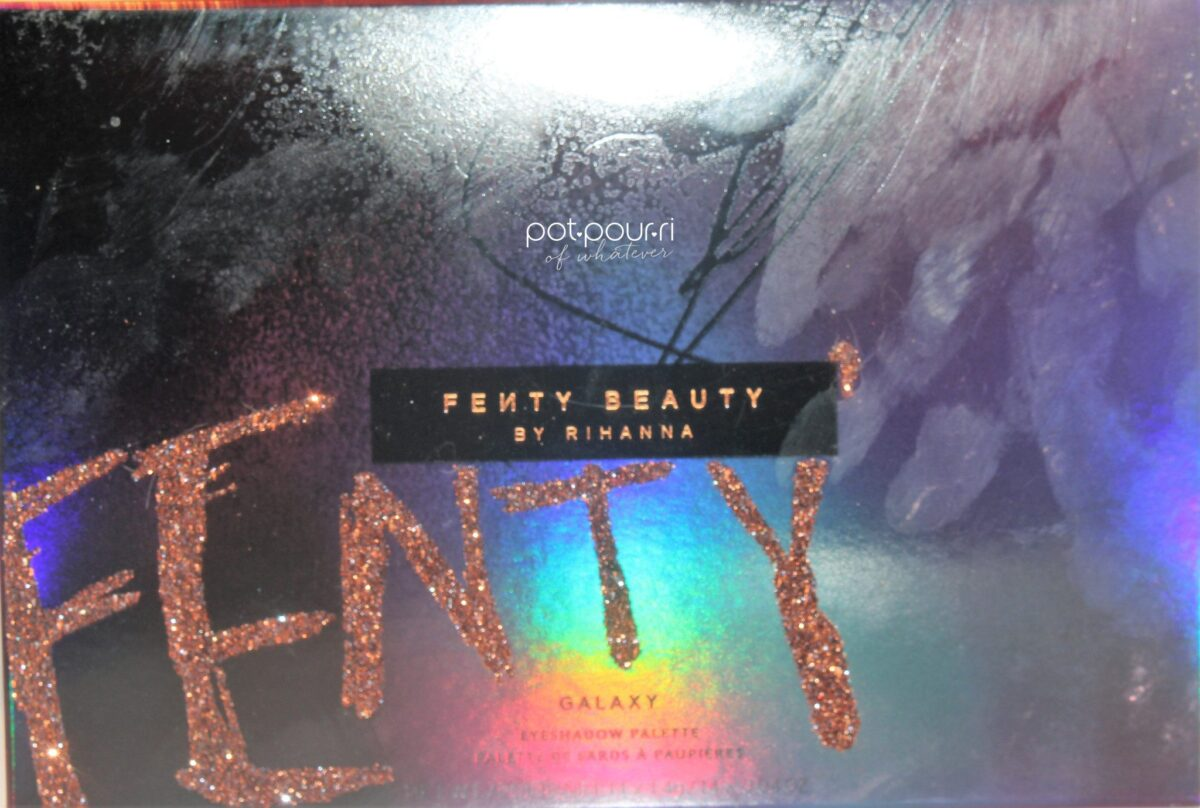 Fenty Beauty Galaxy Eyeshadow Palette packaging