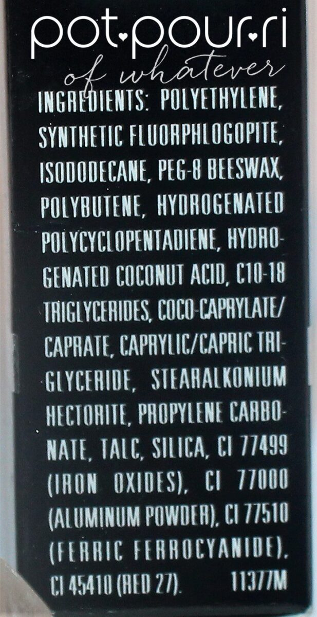 Universal Lip Liner ingredients