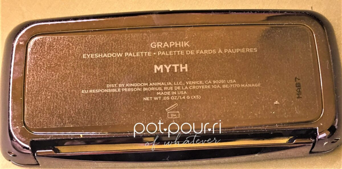 BACK OF HOURGLASS GRAPHIC EYE SHADOW PALETTE MYTHIK