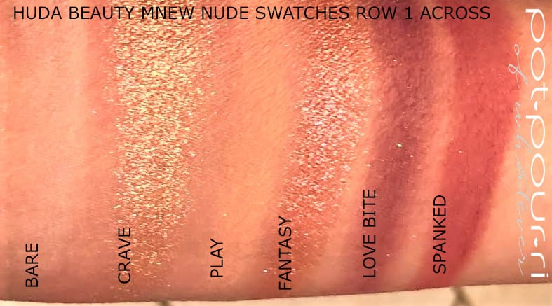 ROW 1 SWATCHES LEFT TO RIGHT