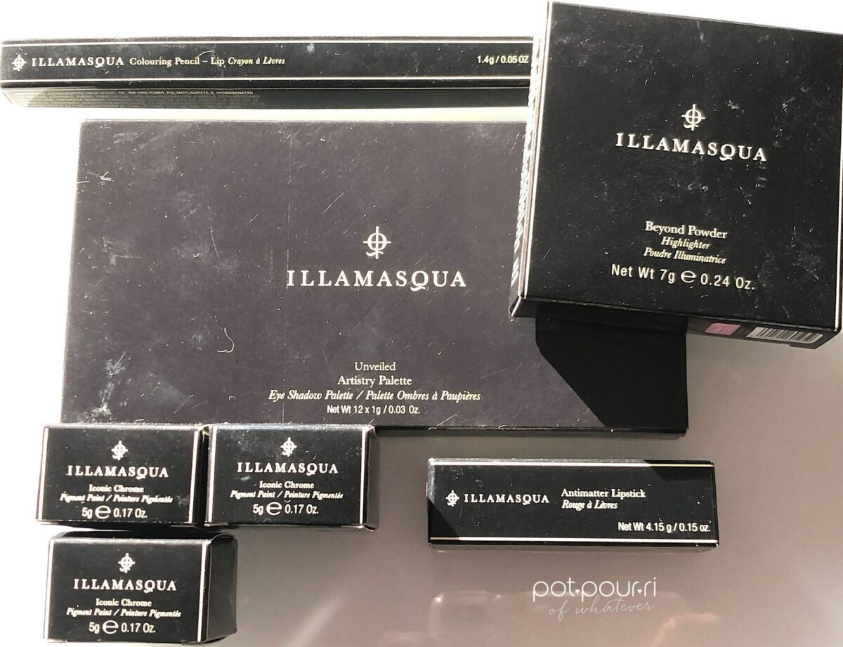 ILLAMASQUA O=NUDE COLLECTION OUTER PACKAGING