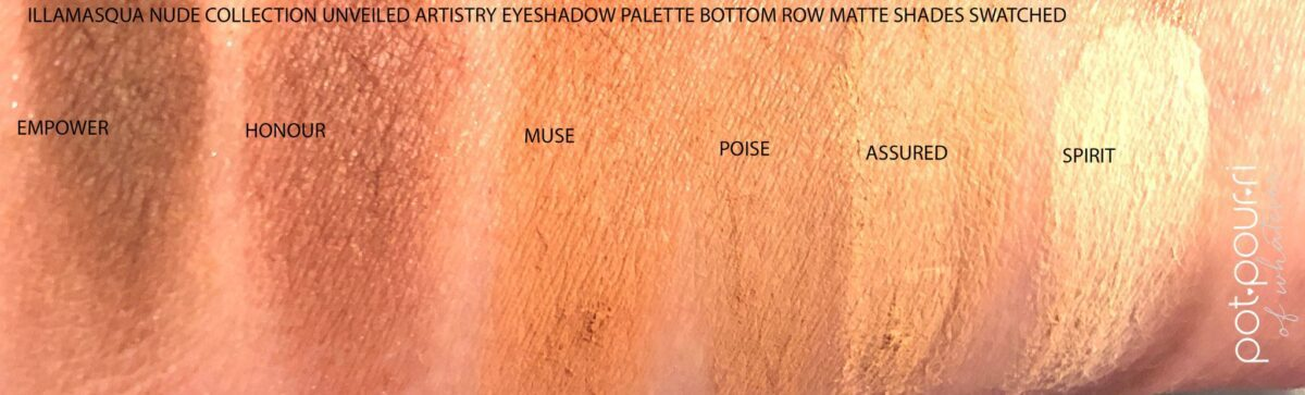 SWATCHES OF THE SIX MATTE SHADES