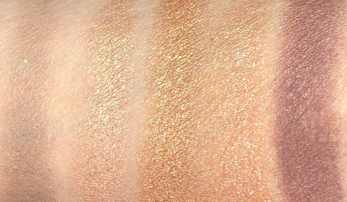 MORE SWATCHES OF THE QUEEN OF GLOW QUAD