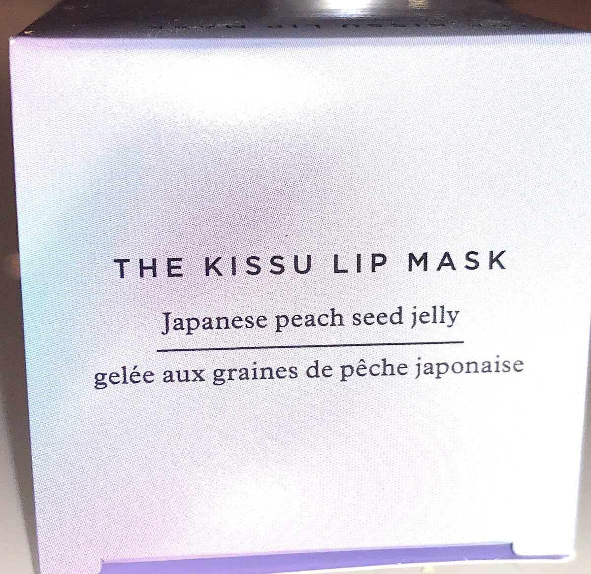 THE OUTER BOX FOR THE TATCHA KISSU LIP MASK
