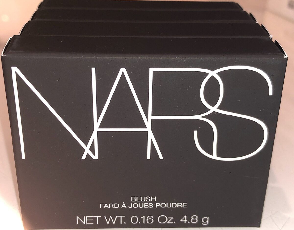 NARS ICONIC BLUSH TEN NEW COLORS OUTER PACKAGING BOX