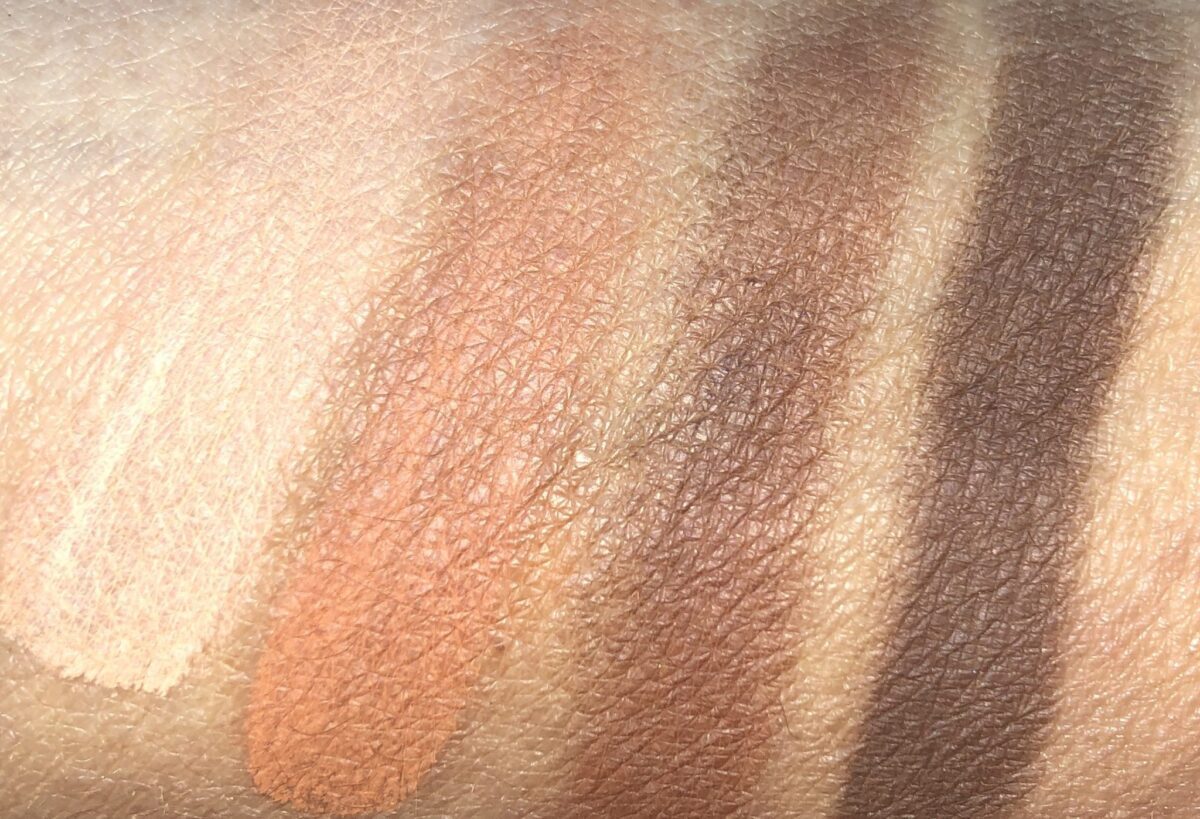 SHADE SWATCHES LEFT TO RIGHT CLOCKWISE: PRIME, ENHANCE, SMOKE, DEFINE