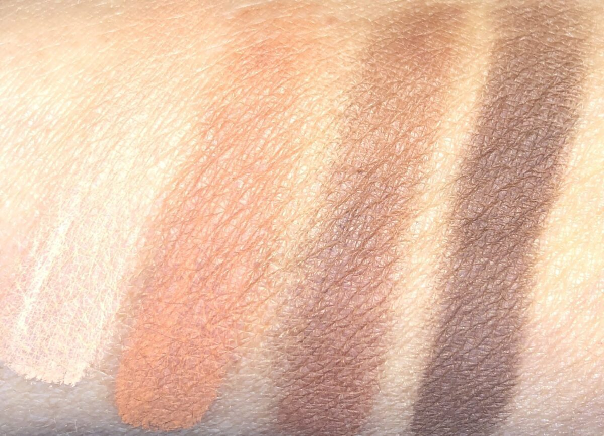 SWATCHES R TO L: PRIME, ENHANCE, SMOKE AND DEFINE