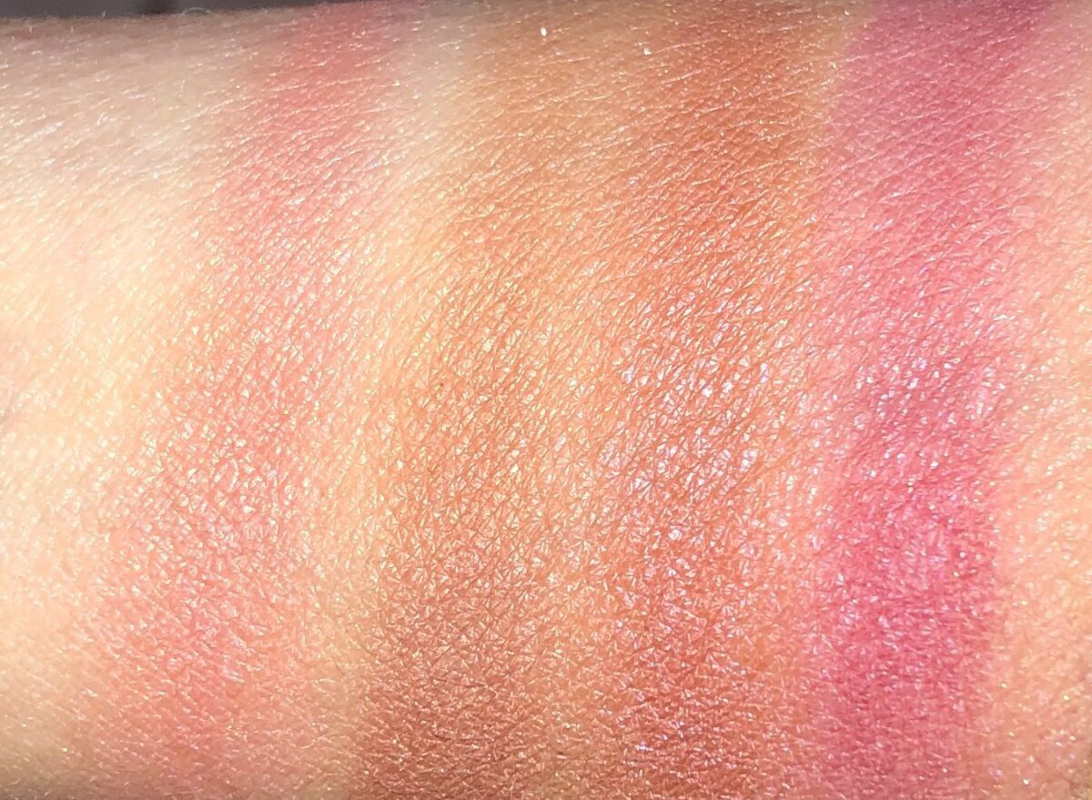 SWATCHES L TO R: ORGASM X, SAVAGE, DOMINATE, AND AROUSED