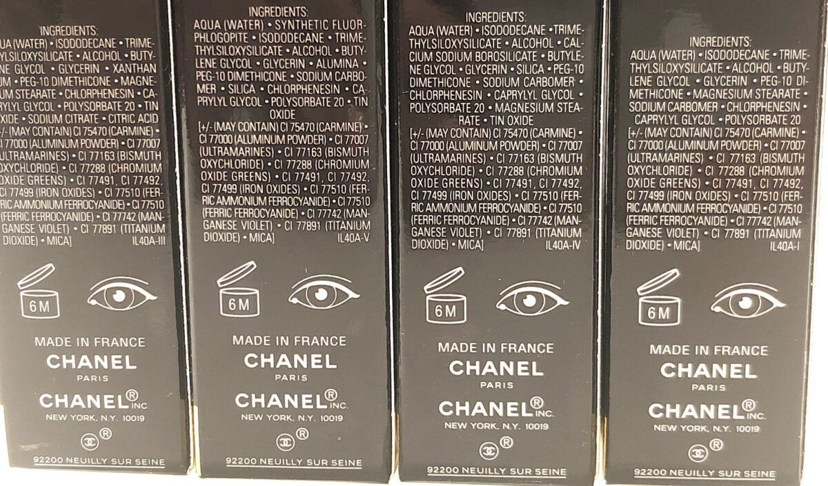 THE CHANEL LONGWEAR LIQUID EYESHADOW OMBRE PREMIERE LAQUE INGREDIENTS