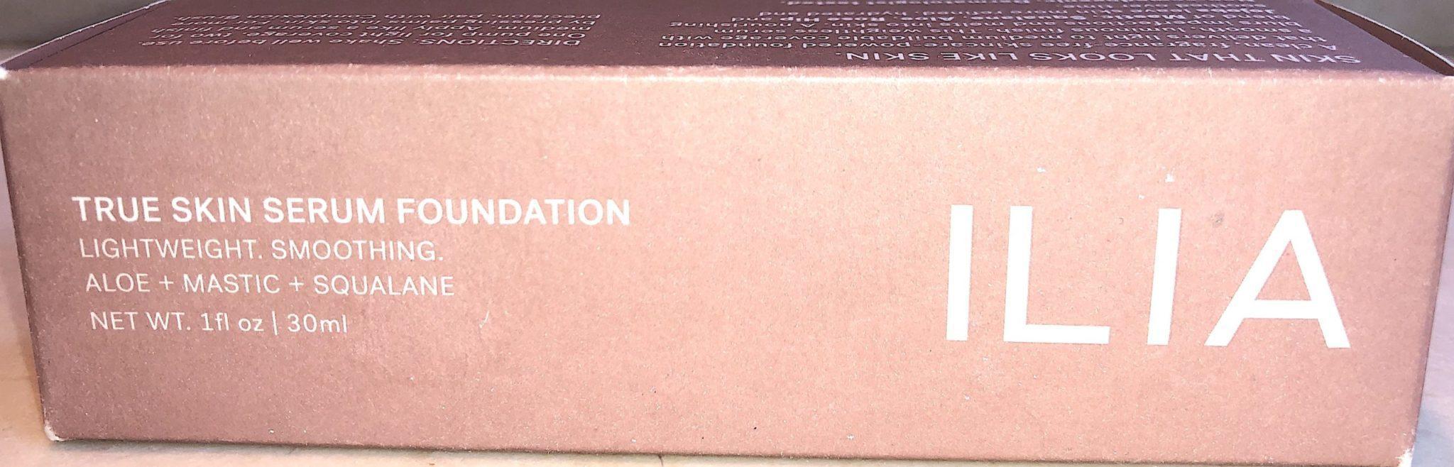 Ilia True Skin Serum Foundation outer box
