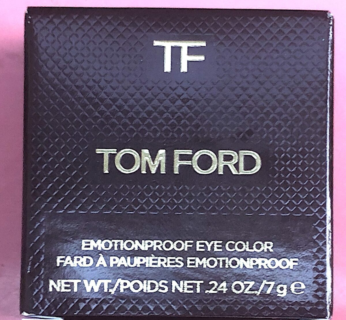 TOM FORD EMOTIONLESS EYE COLOR PACKAGING OUTER BOX