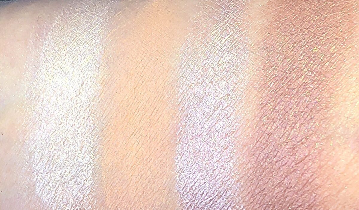 TOM FORD EMOTIONPROOF EYE COLOR SWATCHES MINIMALIST NAKED EYE BRUT ROSE AND CASINO