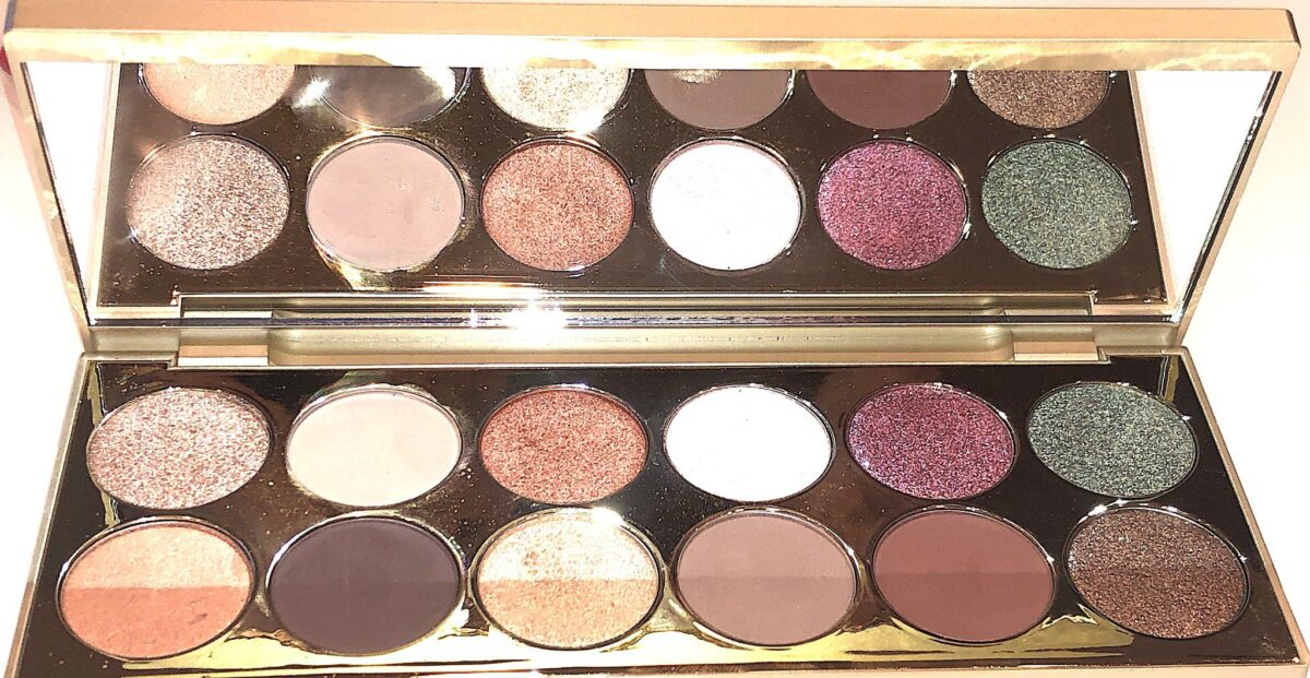 SHIMMERS ARE TOP #3 SUNSET 'SOIREE, #4 PINK BUBBLY, AND BOTTOM ROW #1 BELLINI