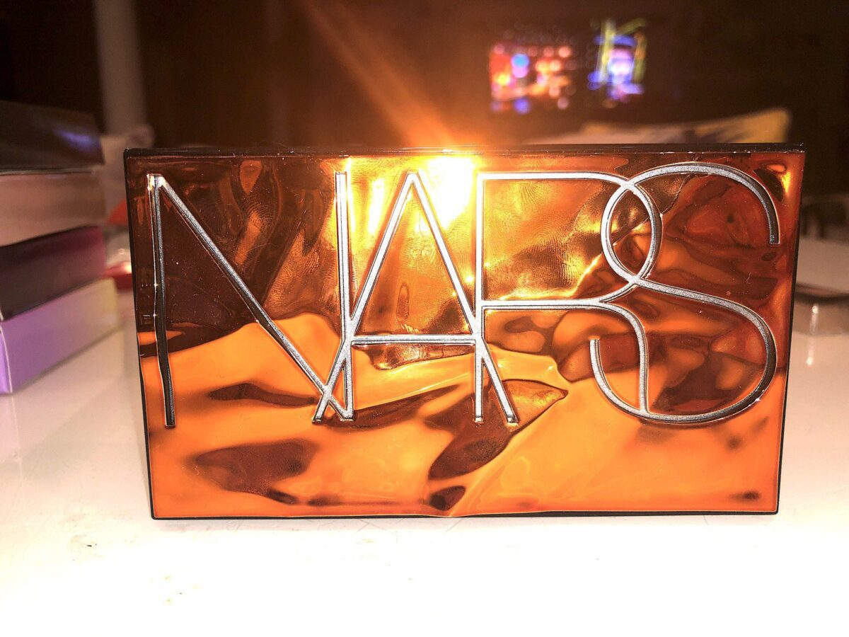 THE FRONT OF THE NARS AFTERGLOW EYESHADOW PALETTE