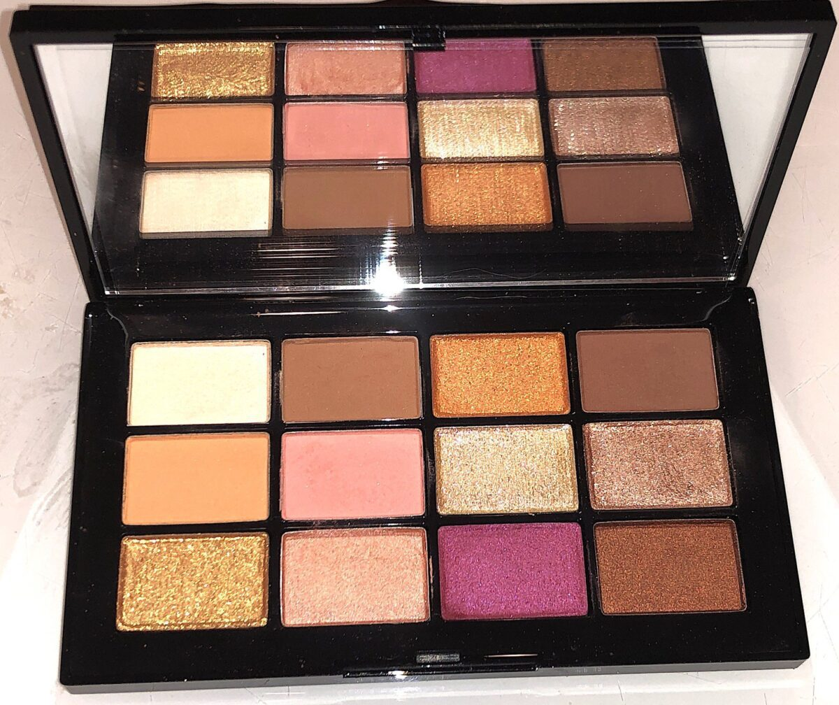 THE INSIDE OF THE NARS AFTERGLOW EYESHADOW PALETTE