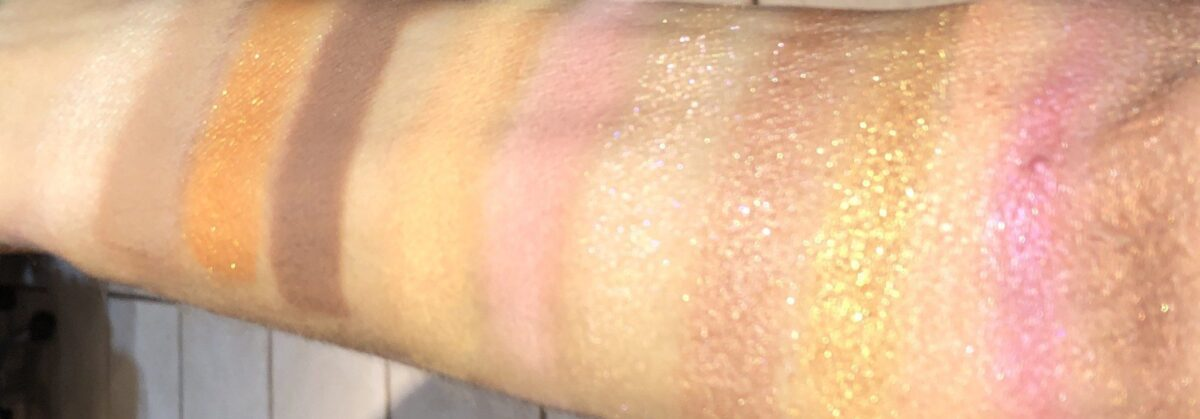 SWATCHES OF AFTERGLOW EYESHADOW PALETTE