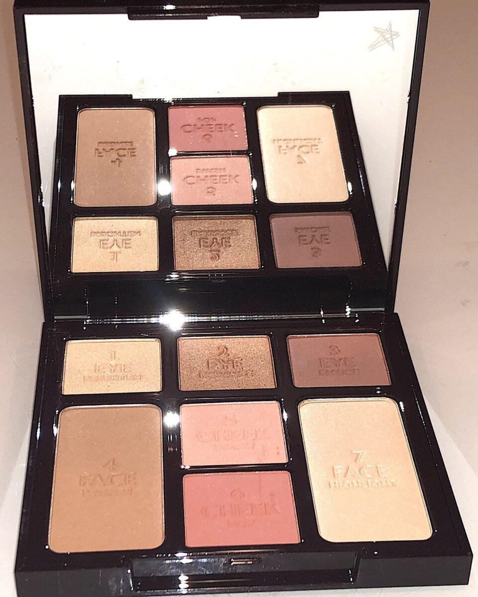 THE CHARLOTTE TILBURY STONED ROSE BUNDLE INSTANT LOOK IN A FACE INSIDE THE PALETTE