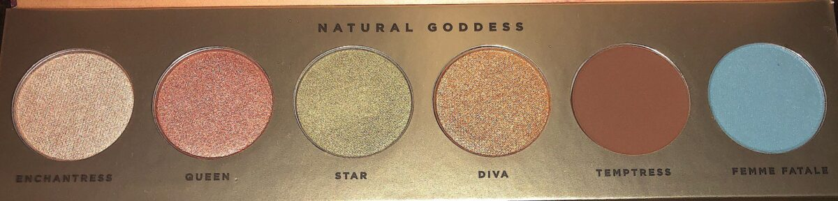 NATURAL GODDESS EYESHADOW PALETTE SHADE NAMES
