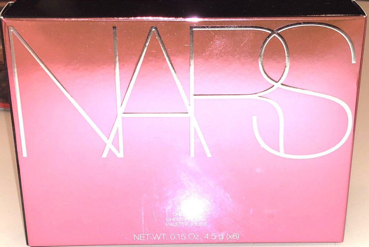 THE OUTER BOX FOR THE NARS OVERLUST CHEEK PALETTE