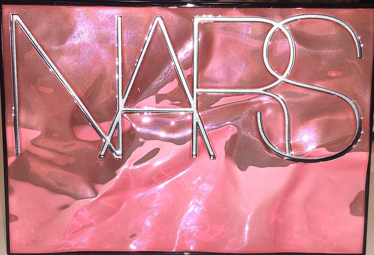 THE FRONT OF THE NARS OVERLUST CHEEK PALETTE