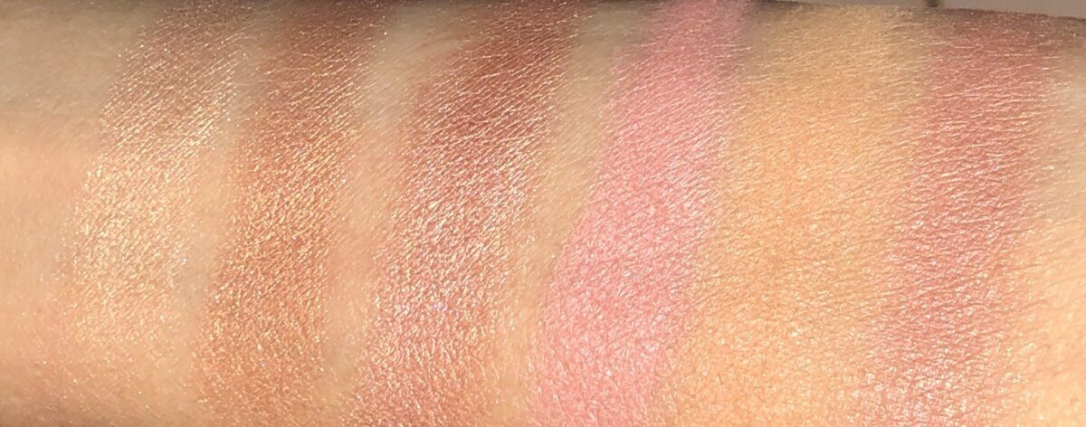 SWATCHES OF THE NARS OVERLUST CHEEK PALETTE