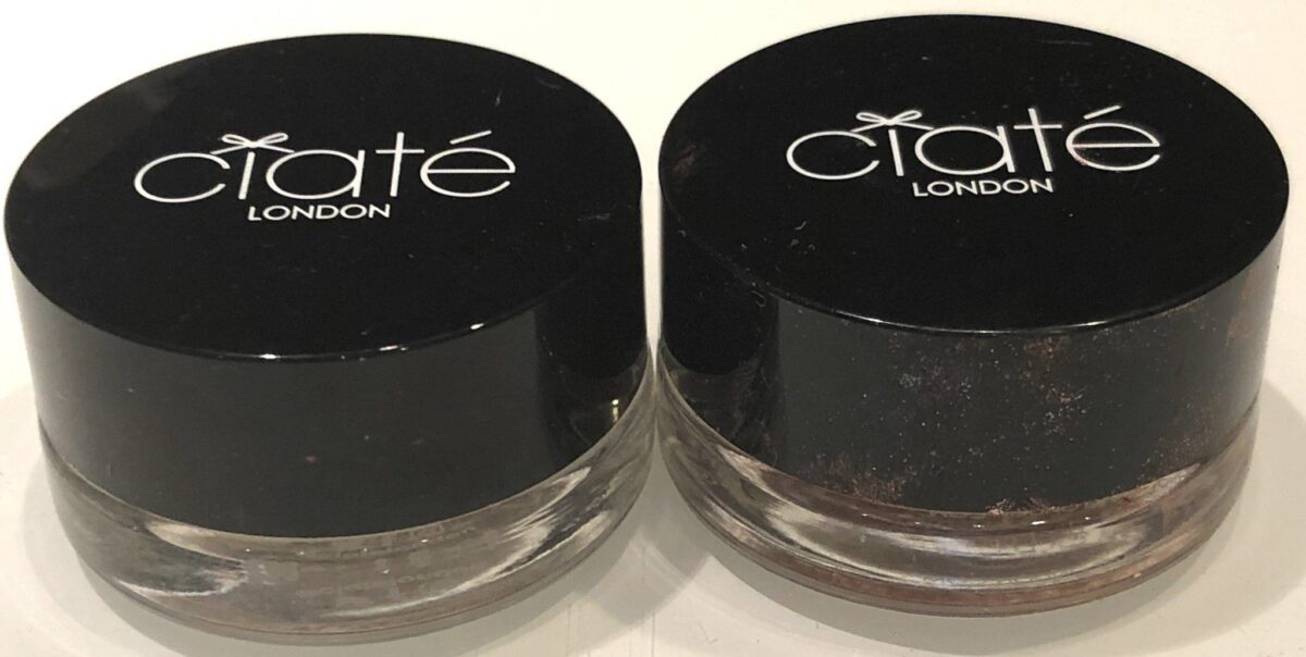 GLASS POT PACKAGING FOR CIATE MARBLED METALS EYESHADOWS