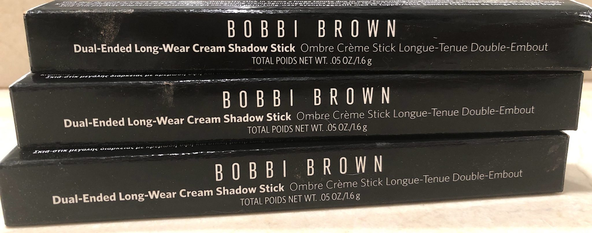 BOBBI BROWN OUTER BOX FOR DUAL-ENDED CREAM EYESHADOW STICKS