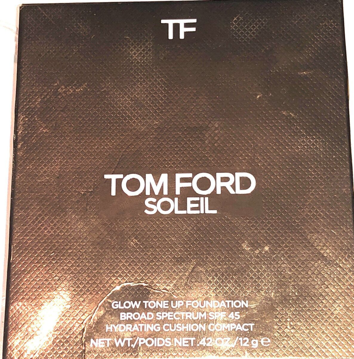 TOM FORD SOLEIL GLOW HYDRATING CUSHION FOUNDATION COMPACT OUTER BOX