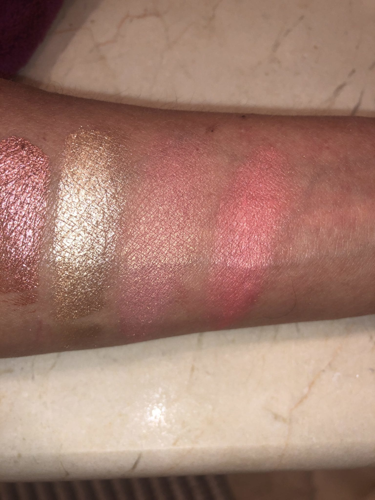 CHEEK PALETTE L TO R: ORGASM HIGHLIGHTER, ORGASM BLUSH, ORGASM X BLUSH