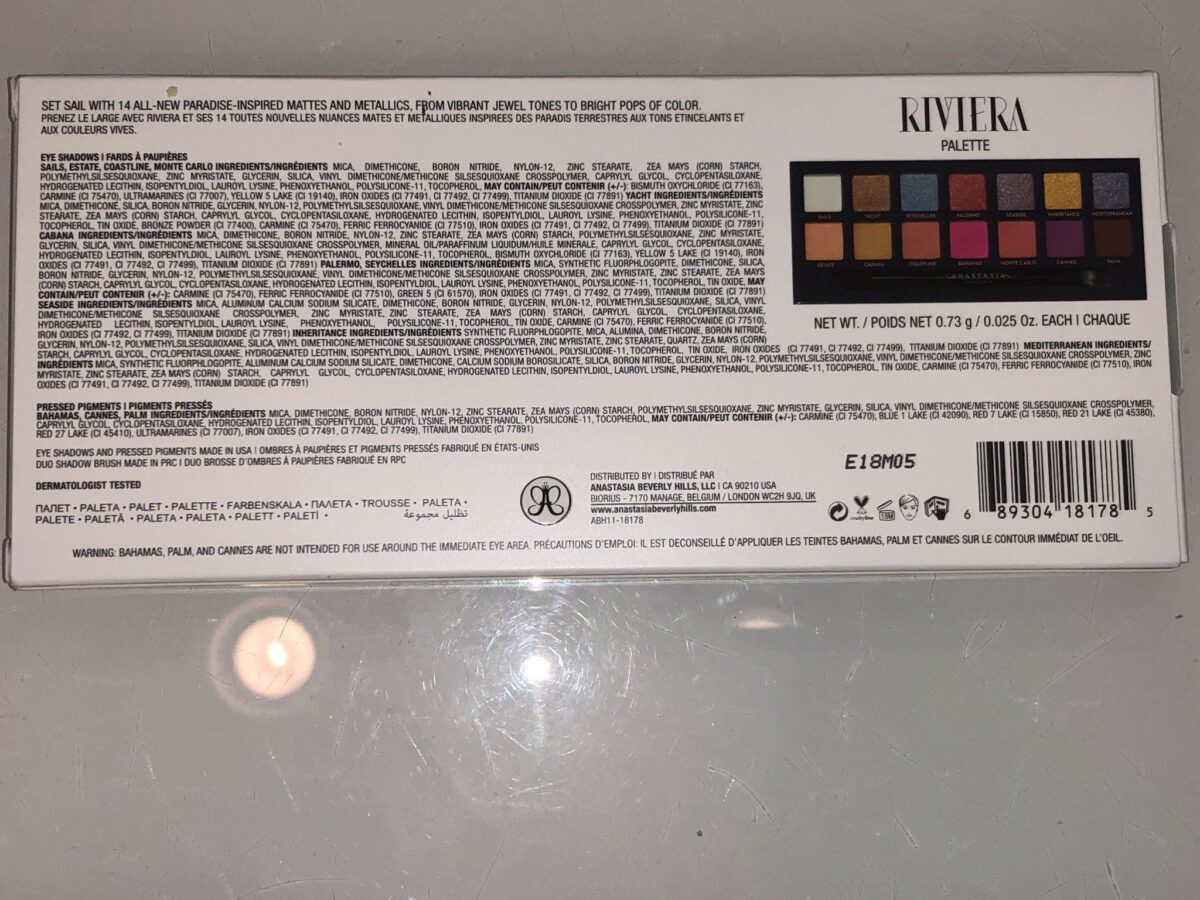 HAVE A LOOK AT THE INGREDIENTS ON THE BACK OF THE OUTER BOX!