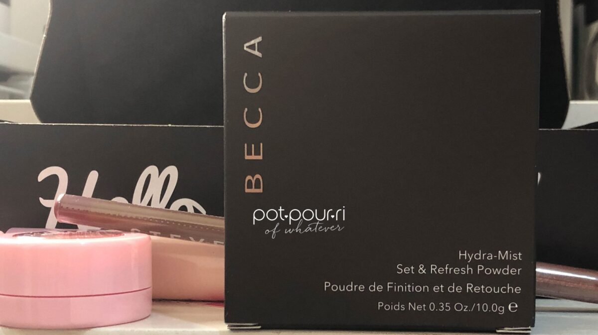 OUTER BOX BECCA HYDRA-MIST SET & REFRESH POWDER