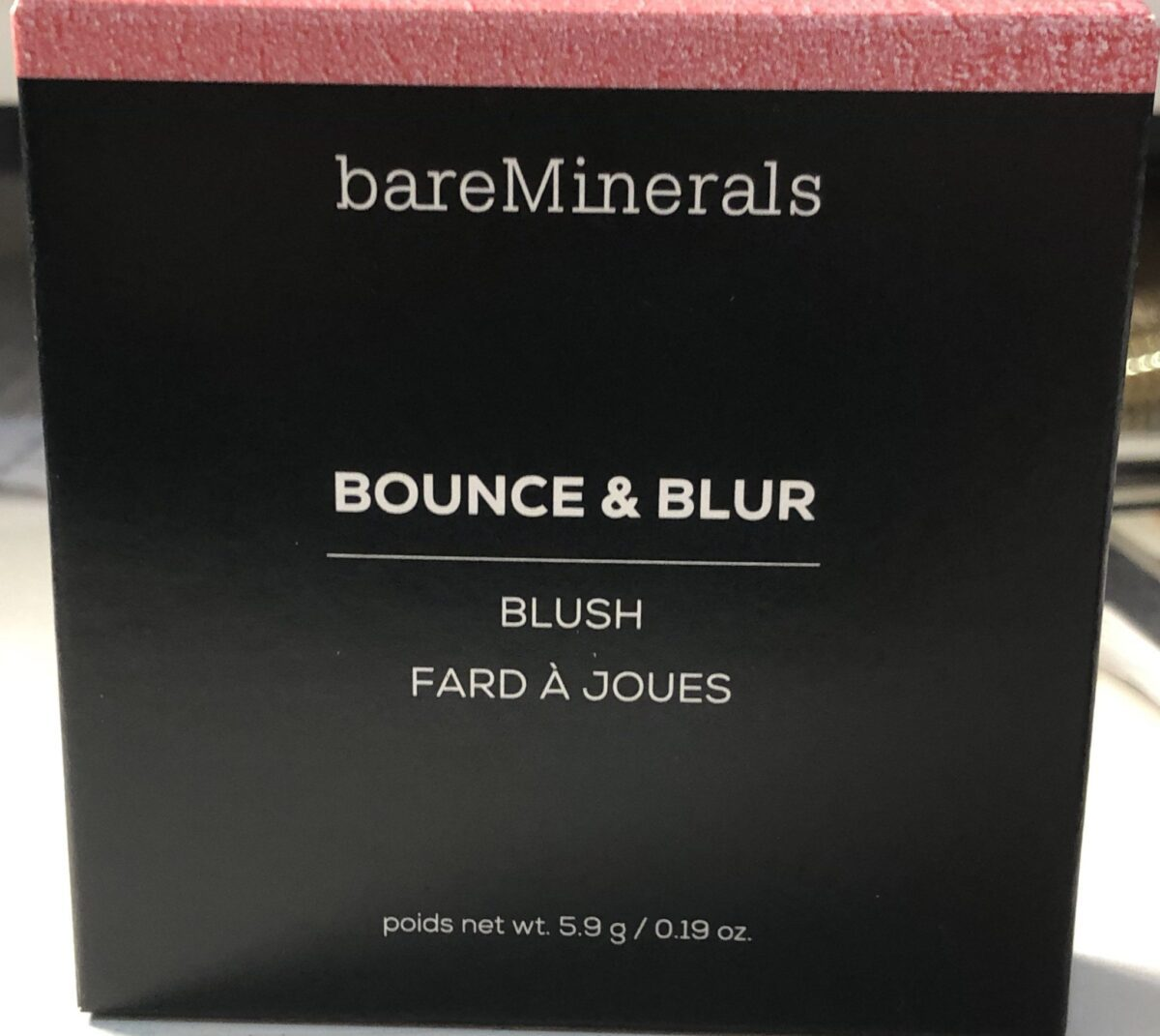BAREMINERALS BOUNCE & BLUR BLUSH OUTER PACKAGING BOX