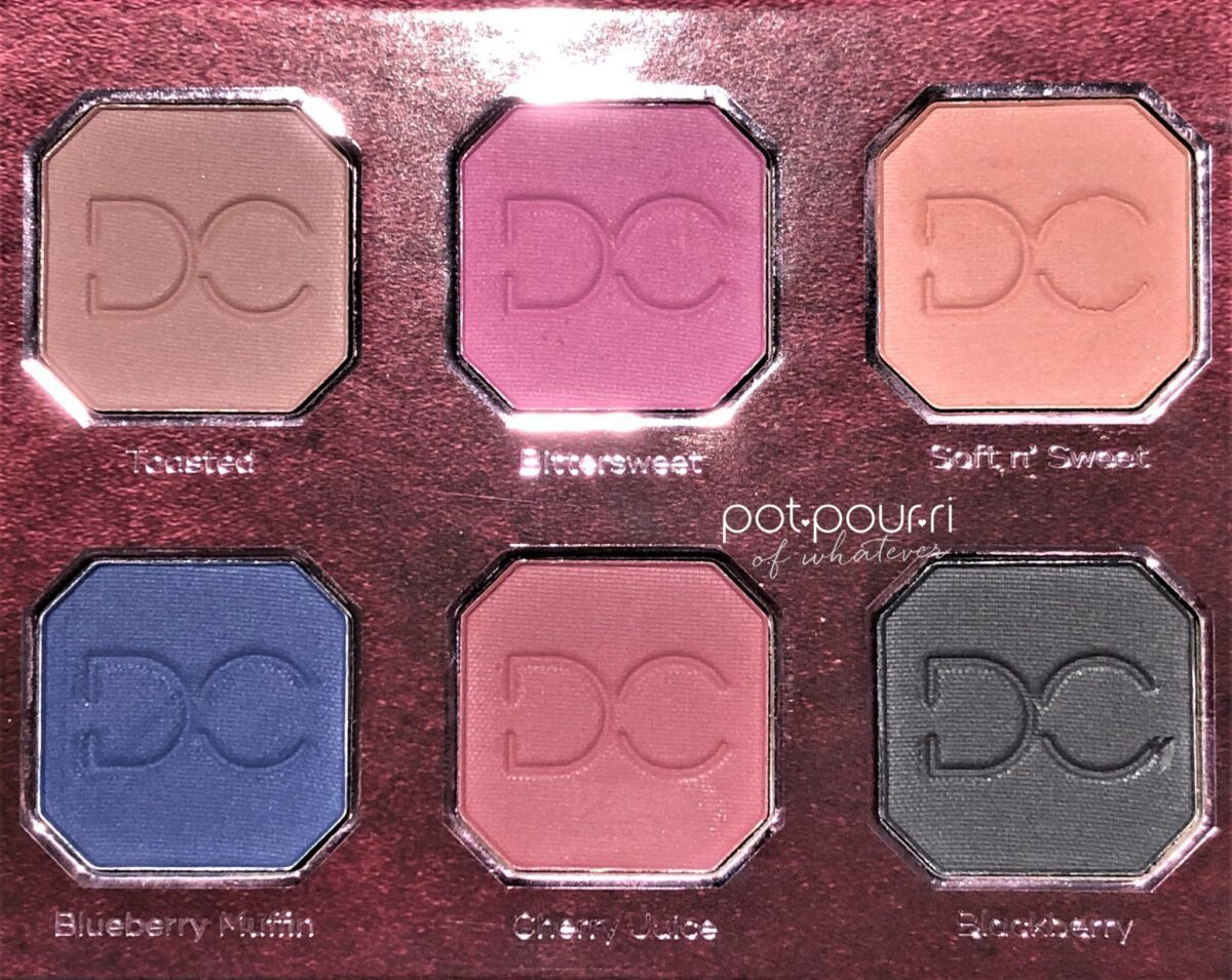 DOMINIQUE BERRIES + CREAM EYE SHADOWS SECOND HALF OF PALETTE