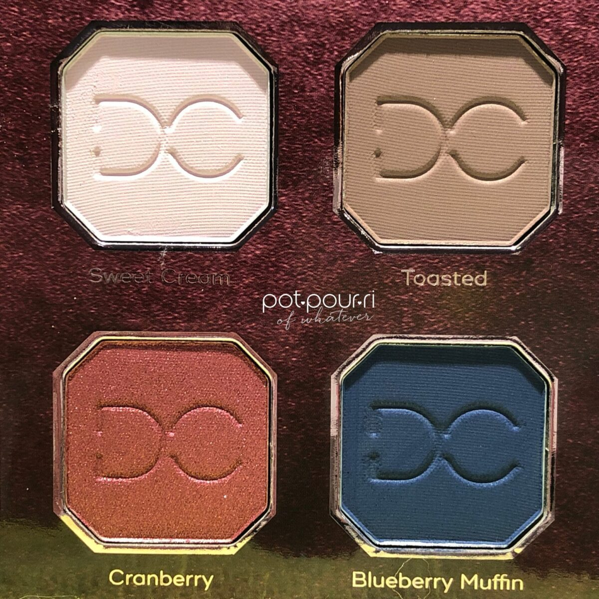 DOMINIQUE BERRIES + CREAM EYE SHADOWS IN SQUARE 2