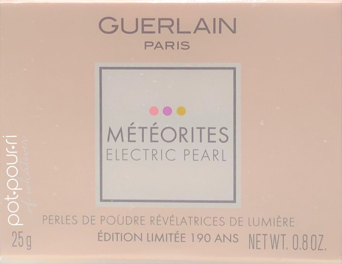 GUERLAIN METEORITES ELECTRIC PEARL PACKAGING OUTER BOX