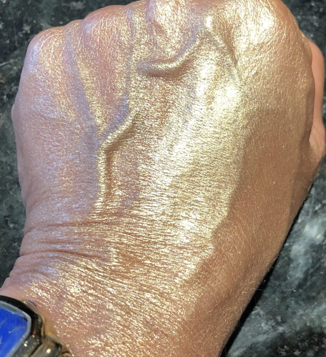 SUVA TRUST FUND LIQUID CHROME HIGHLIGHTER SWATCH ON HAND