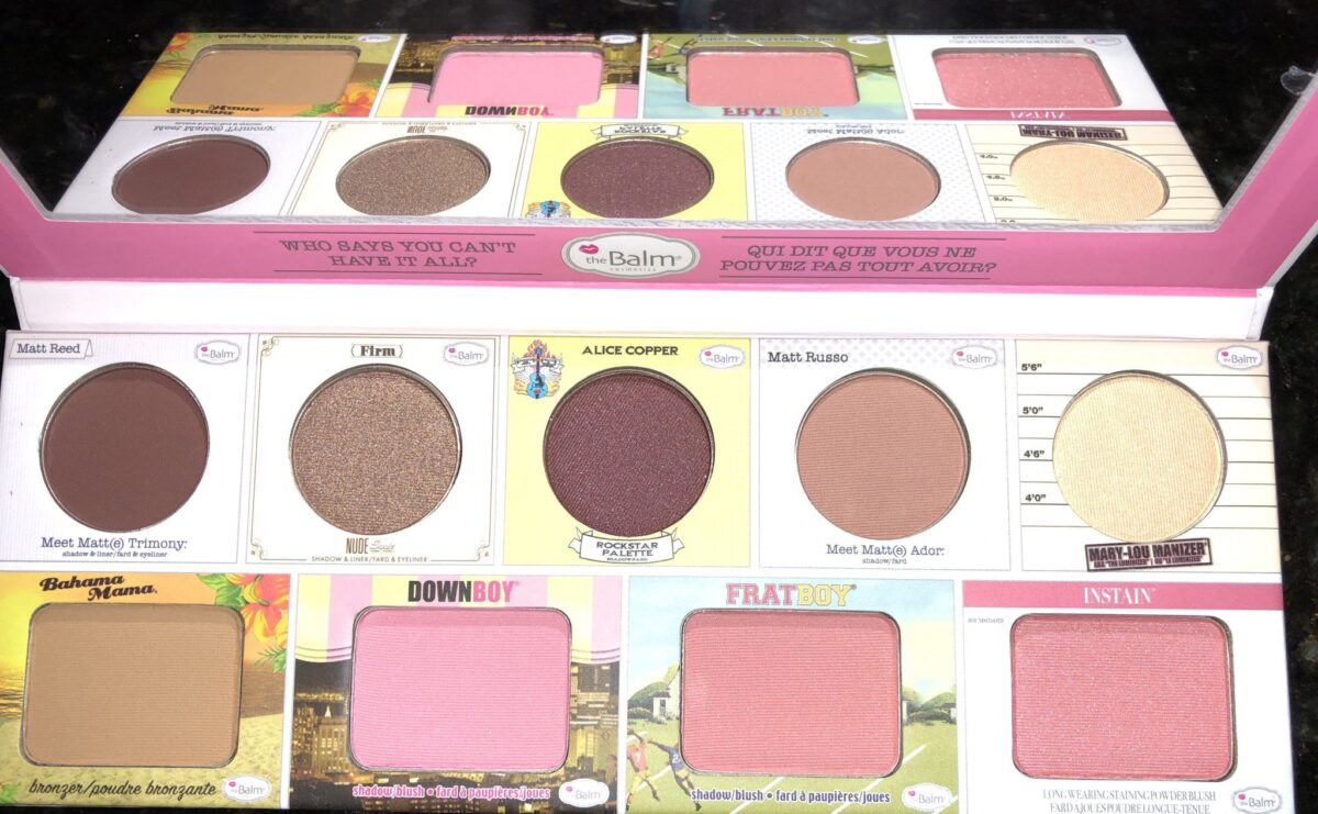 INSIDE THEBALM VOLUME 2 GREATEST HITS PALETTE