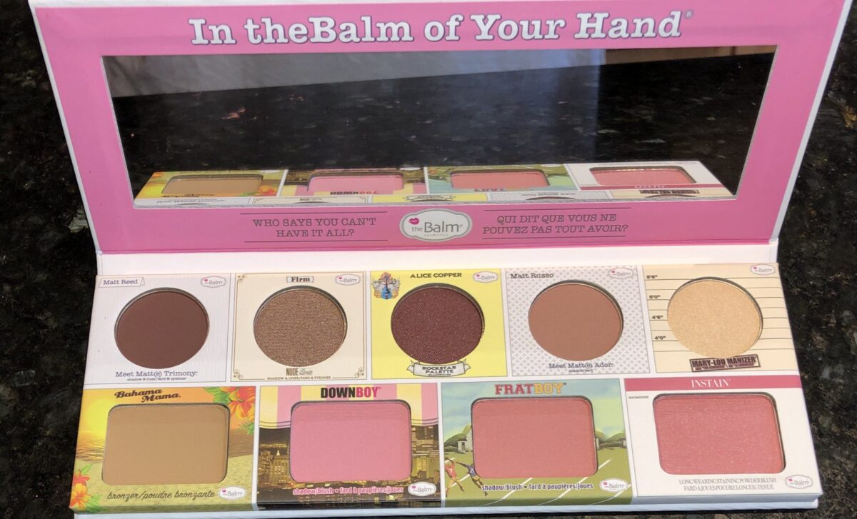 THE BALM EYESHADOWS, BLUSHES, BRONZER AND HIGHLIGHTER WITH MIRROR
