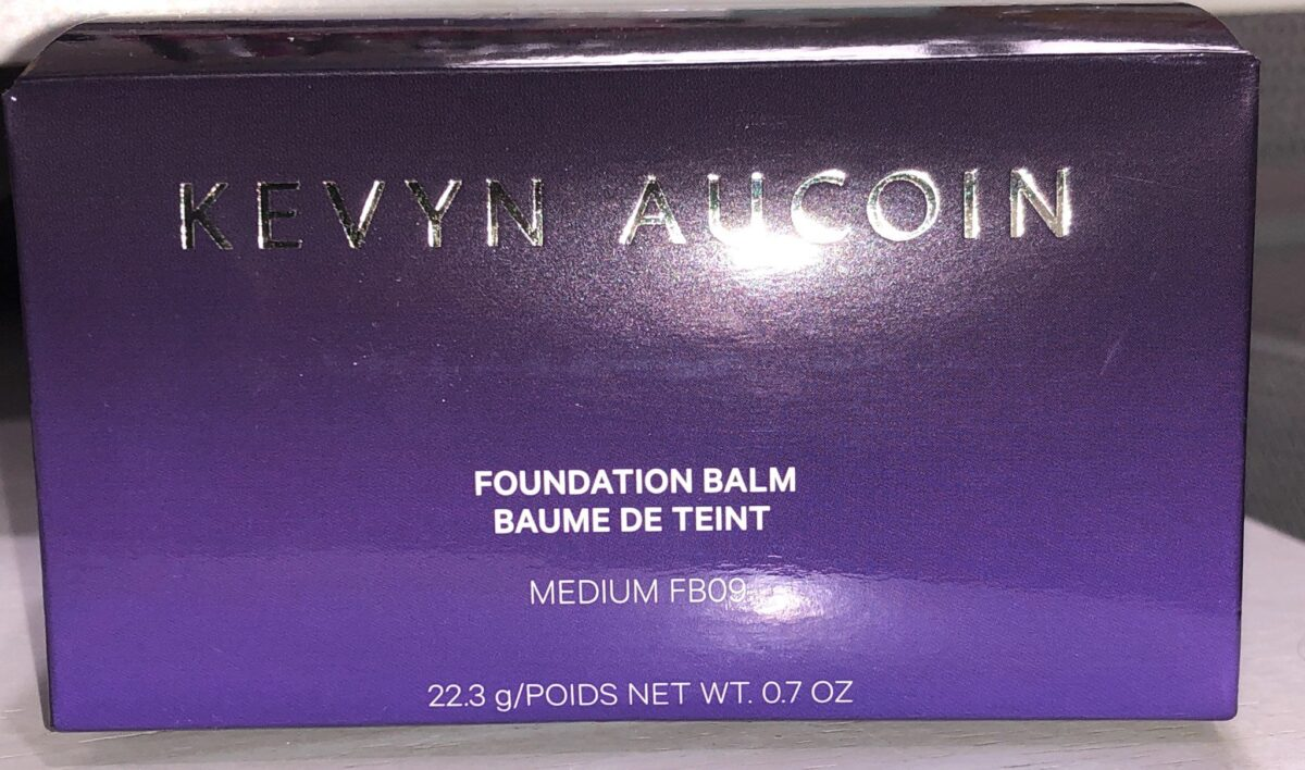 KEVYN AUCOIN FOUNDATION BALM PACKAGING OUTER BOX