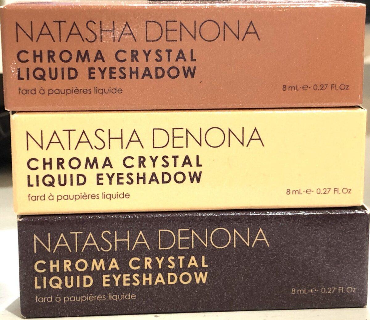 NATASHA DENONA CHROMA CRYSTAL LIQUID EYESHADOW PACKAGING