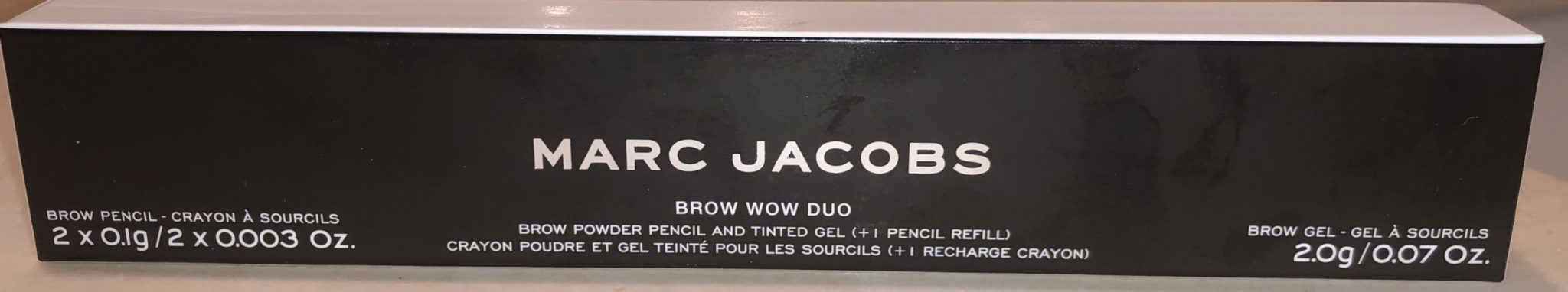 MARC JACOBS BROW WOW DUO PACKAGING BOX