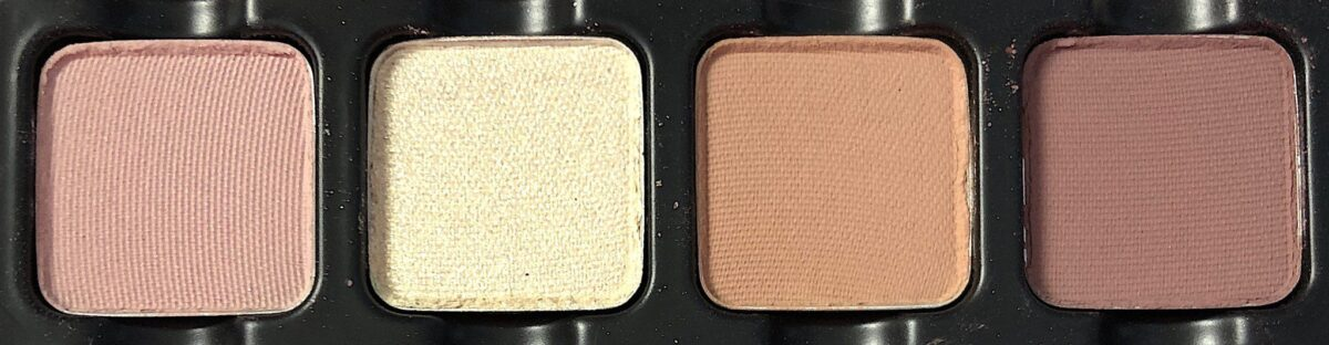THE FIRST ROW OF THE VISEART PARIS EDIT, SHADES ARE PETALE, CHAMPS ELYSEES, CREME BRULEE, AND FLEUR