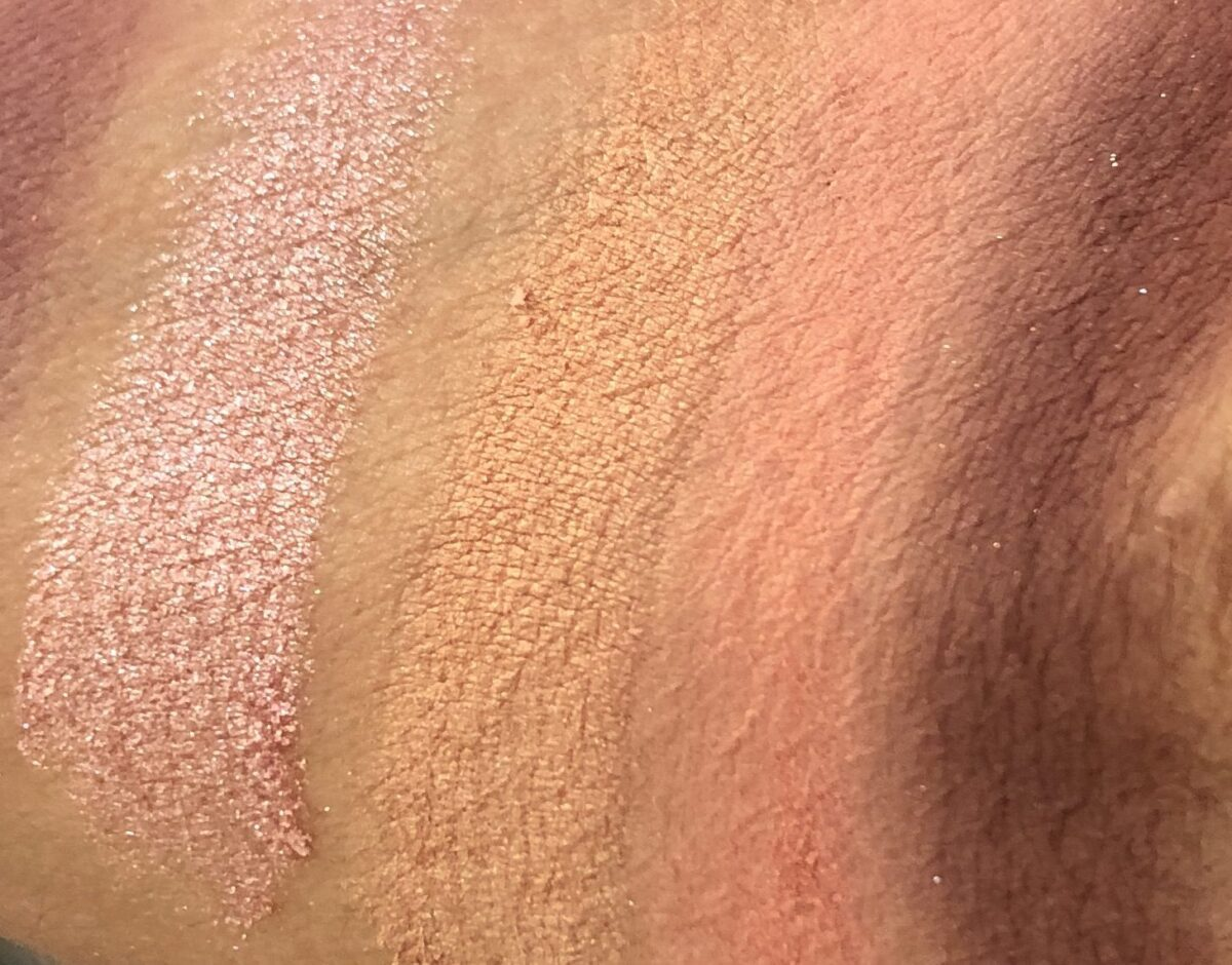 THE SWATCHES OF THE SHADES IN ROW 2 L TO R: OPERA, BEAUX ARTS, TUILLE AND CERISE