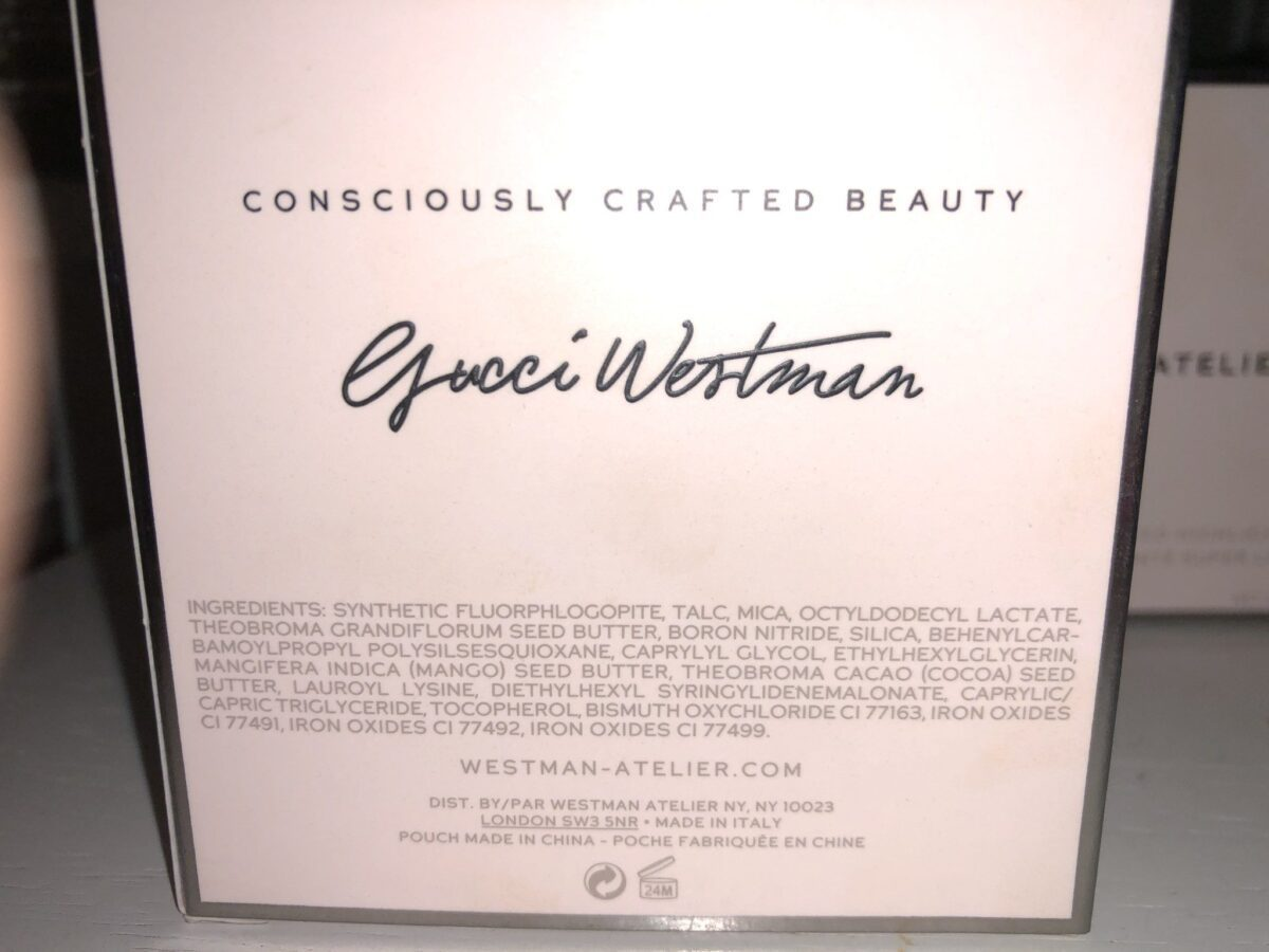 GUCCI WESTMAN ATELIER BEAUTY BUTTER POWDER BRONZER INGREDIENTS