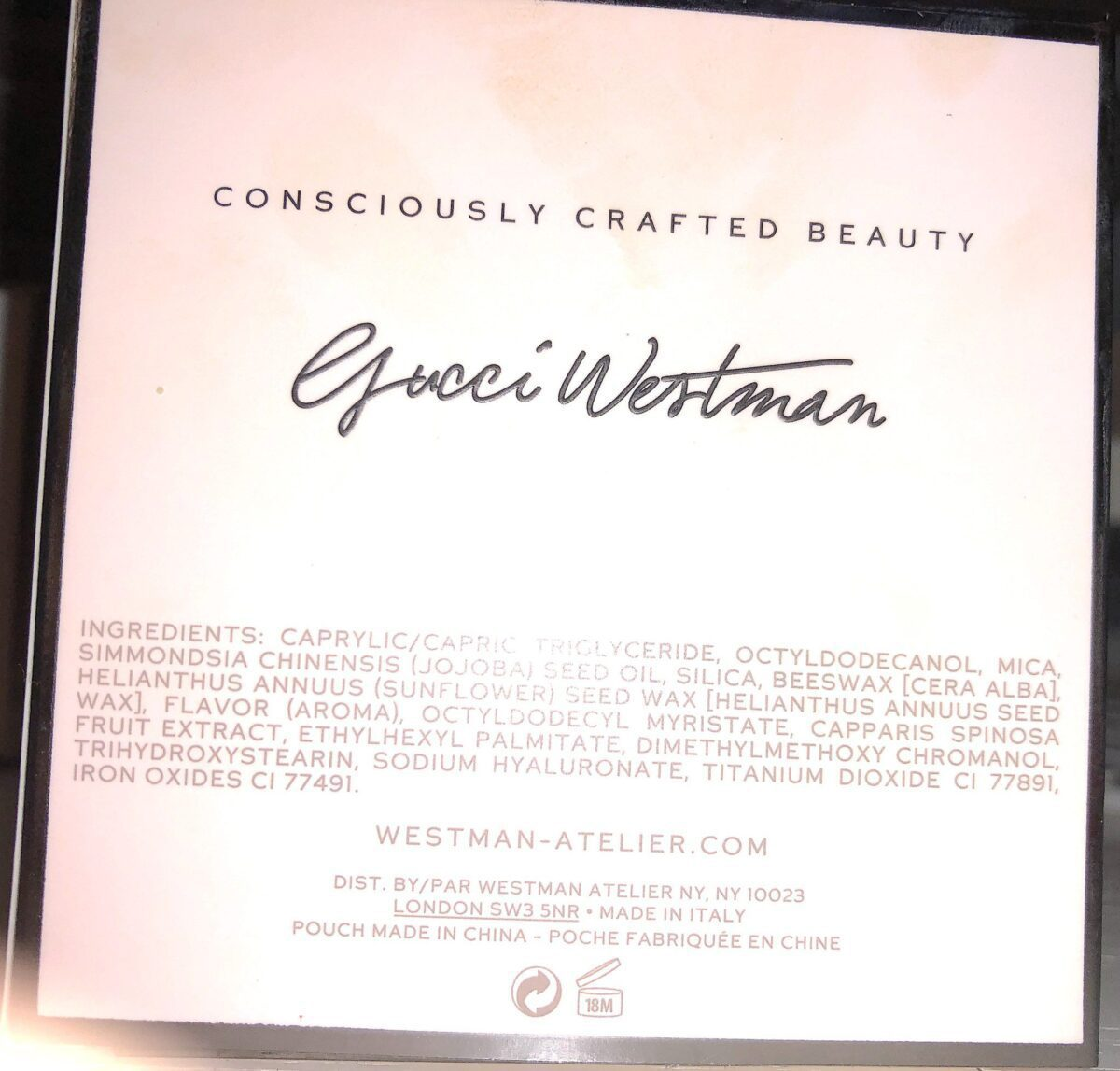 GUCCI WESTMAN ATELIER HIGHLIGHTER INGREDIENTS